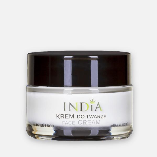 Crème pour le visage au chanvre en usage jour ou nuit India pas cher