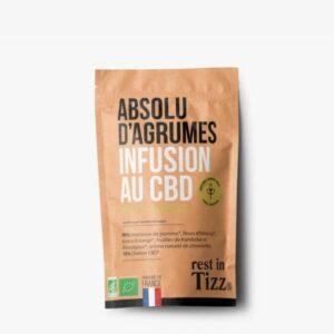 Infusion bio au CBD Absolu d'agrumes de Rest In Tizz pas cher
