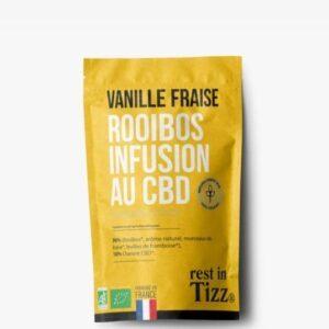 Rooibos bio infusion au CBD vanille fraise Rest In Tizz pas cher