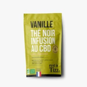 Thé noir bio infusion au CBD vanille Rest In Tizz pas cher