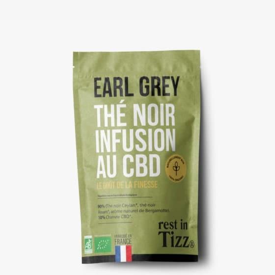 Thé noir bio infusion au CBD Earl Grey Rest In Tizz pas cher