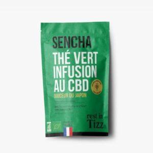 Thé vert Sencha bio au CBD infusion Rest In Tizz pas cher