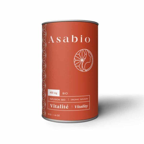 Tisane au CBD vitalité Asabio pas cher